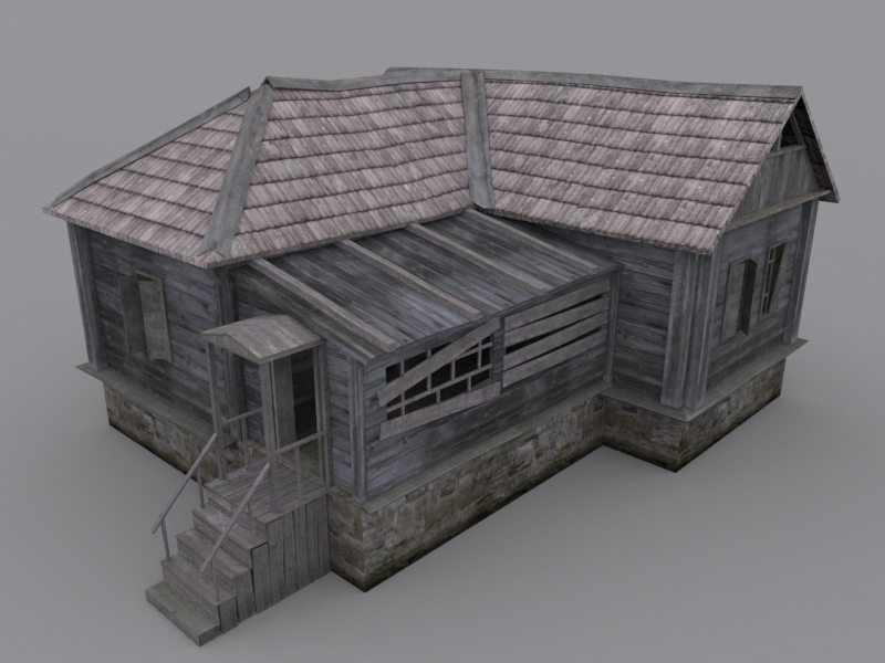 Old wood house 3d model max for 3d max house model