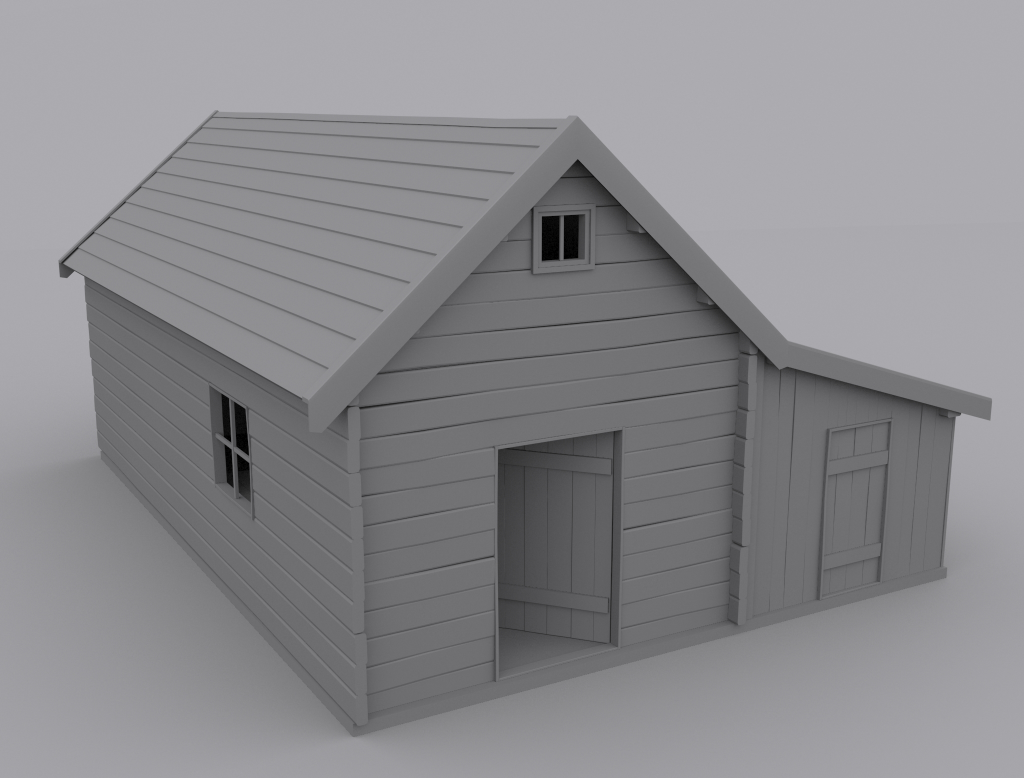 Old house 3d model max House 3d model