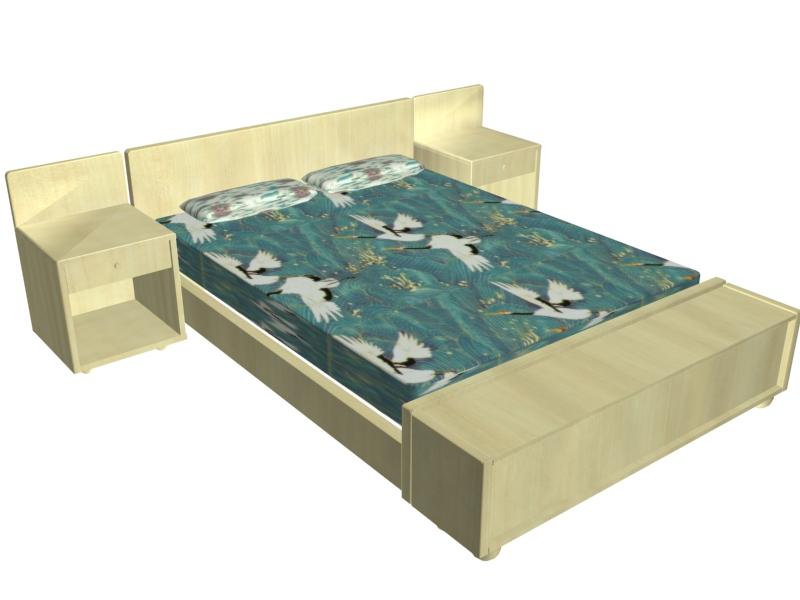 New Model Beds : ... bed model free 3d model single or double bed models for bedroom