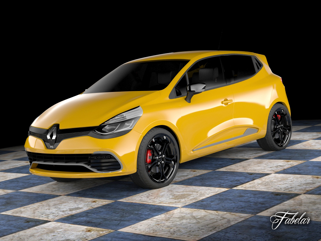 renault clio rs 2013 3d model rigged max obj 3ds fbx c4d dae. Black Bedroom Furniture Sets. Home Design Ideas