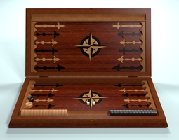 3D asset Backgammon