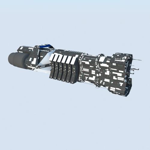 Spaceship Cargo Ultra MAX 20113D model