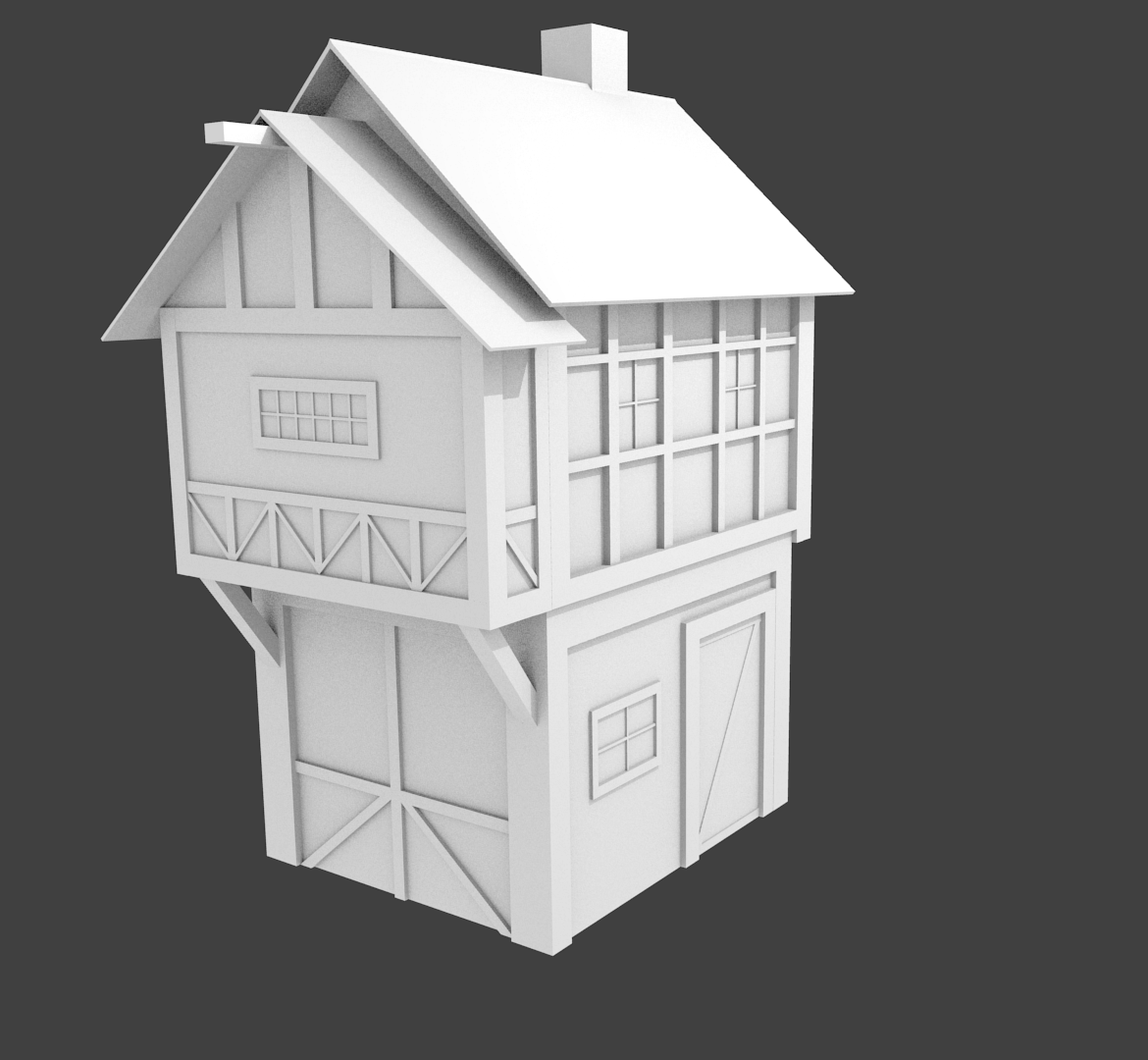 medieval house 3D Model .obj .3ds .blend - CGTrader.com