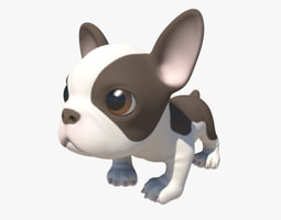Puppy with Morphs 3D Model