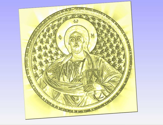 Pantocrator relief for cnc carving d model cgtrader