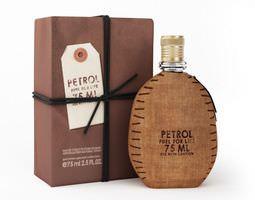 brown bottle of petrol brand woman perfume 3d model