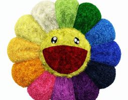 3D model Colorful Plush Flower