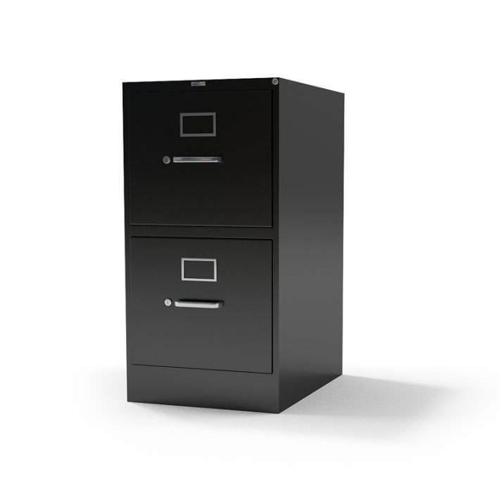 metal 2 drawer file cabinet 3d model. Black Bedroom Furniture Sets. Home Design Ideas