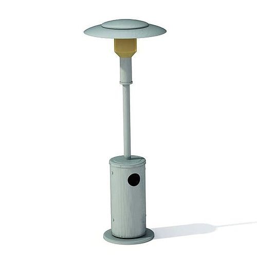Garden Lamp 3d Model: Metalic Garden Lamp 3D