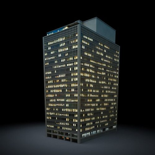 gray tall skyscraper 3d model obj mtl 1