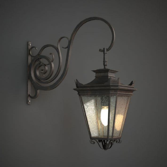 Exterior: Classic Outdoor Wall Lamp 3D Model