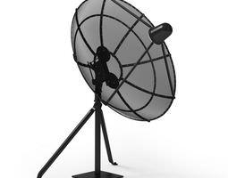 3D model Retro Home Antenna Dish