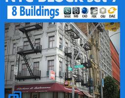NYC Block Set 7 3D Model