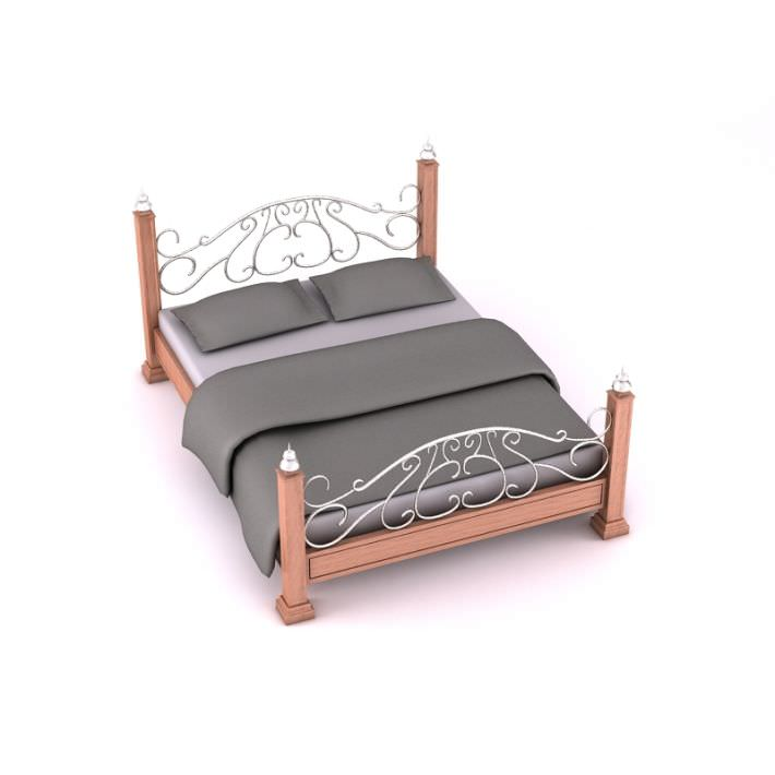 Retro Wooden Wireframe Bed 3D model   CGTrader