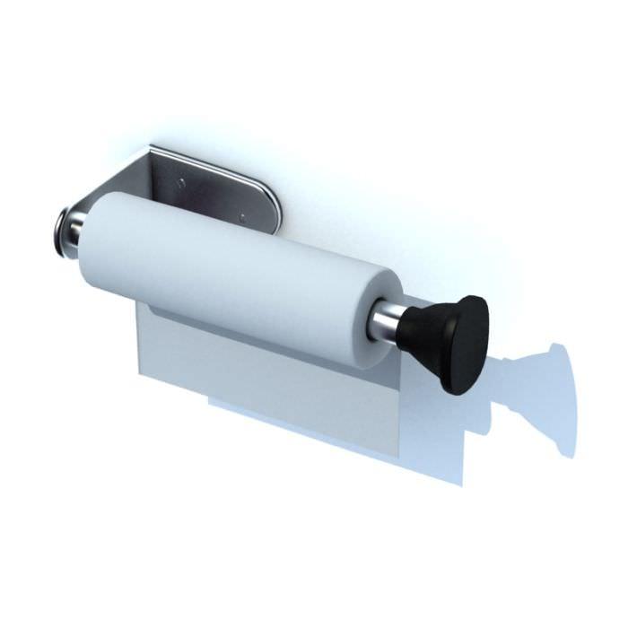 Silver Metal Toilet Paper Holder 3d Model