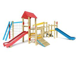 kids outdoor playground equipment 3d model