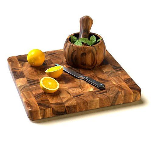 3D Wooden Pieced Cutting Board
