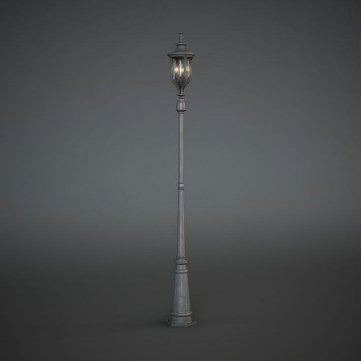 Antique Street Lamp Post 3D Model