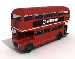 3D model Red Double Decker Bus