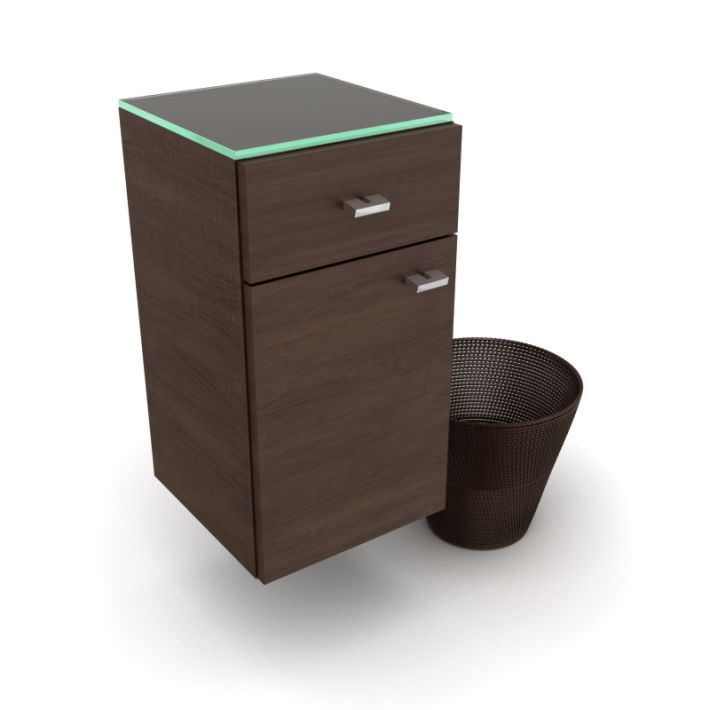 brown bathroom cabinet and matching brown 3d model