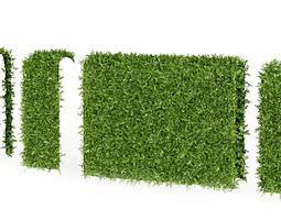 3d green hedge pieces