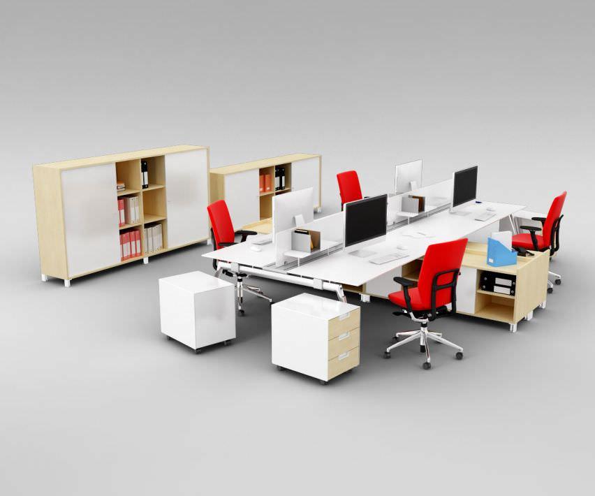 Popular Office Furniture Pack Royaltyfree 3d Model  Preview No 2