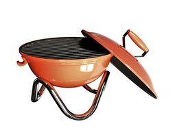 3D model Orange Iron Travel Charcoal Grill