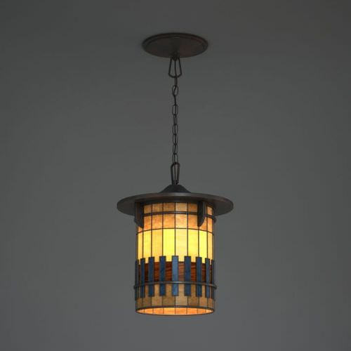 Hanging Stained Glass Lamp 3D Model
