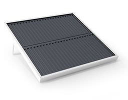 solar collector   black and white 3d