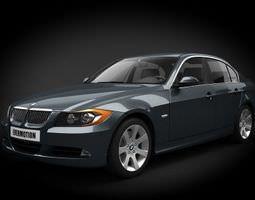 Grey Bmw Car 3D Model