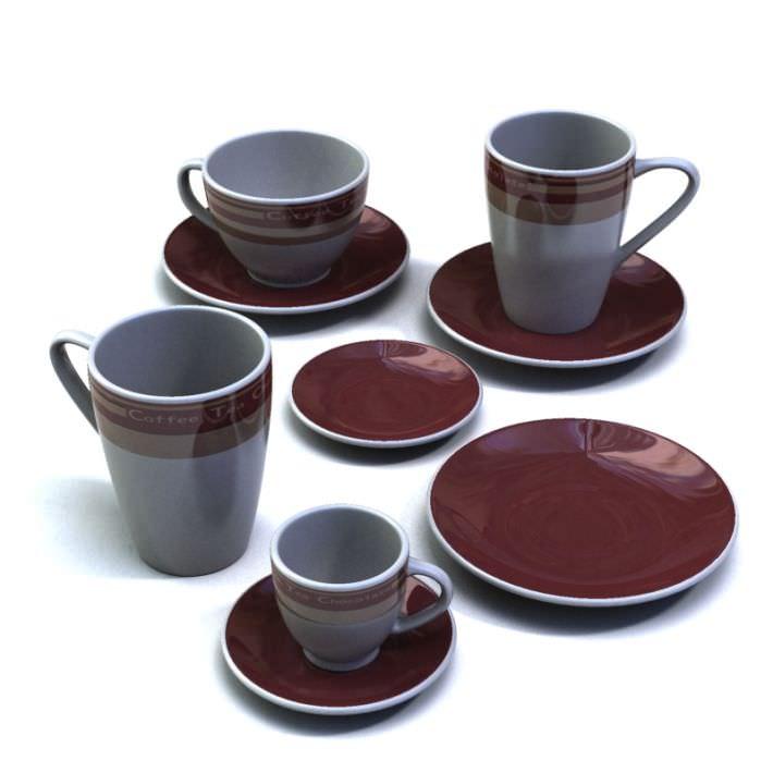 Tea Mug Set  Red