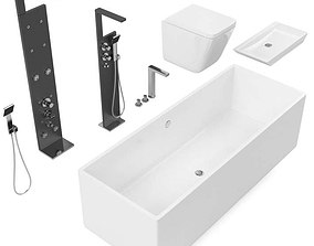 Modern Bathroom Set 3D model