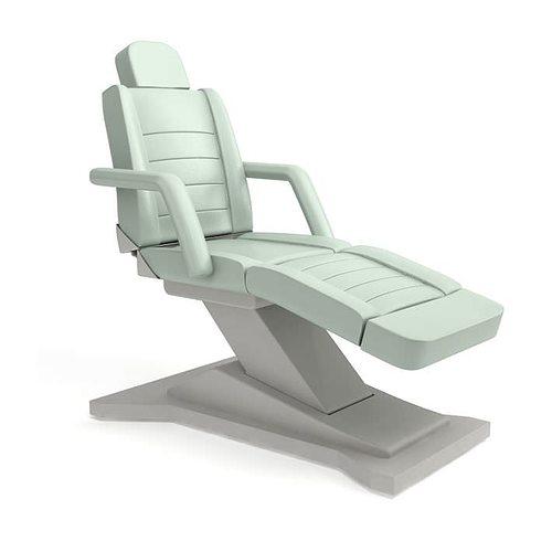 white modern beauty parlor chair 3d model obj 1
