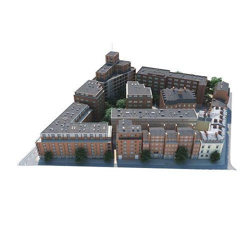 small city block 3d model obj mtl 1