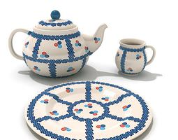 Cup And Saucer Of Flowers 3D