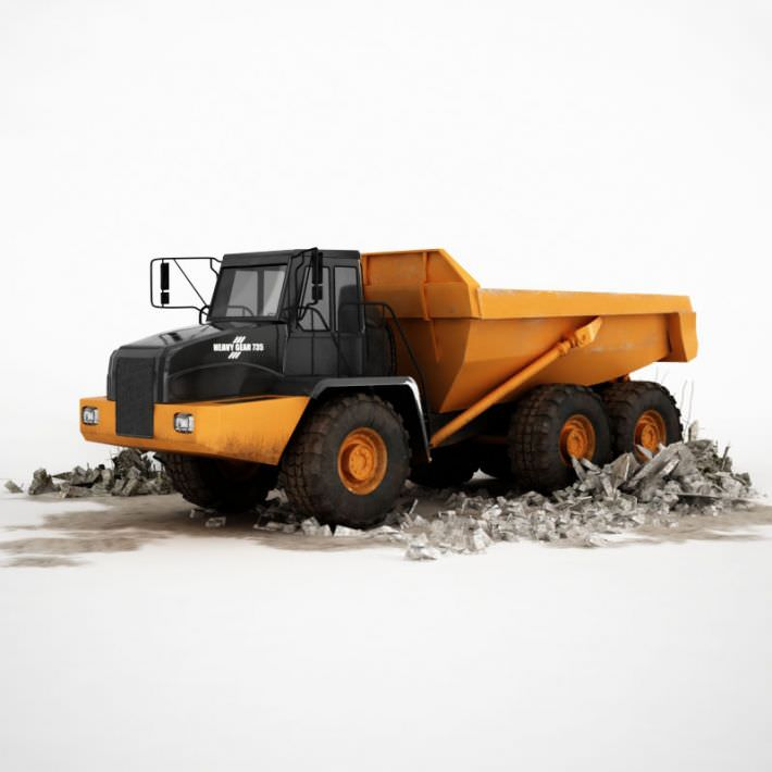 Black And Yellow Industrial Dump Truck