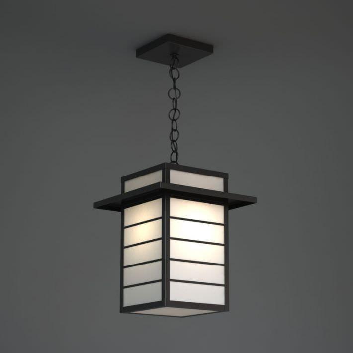 Retro Hanging Asian Paper Lamp 3d Model Obj 1