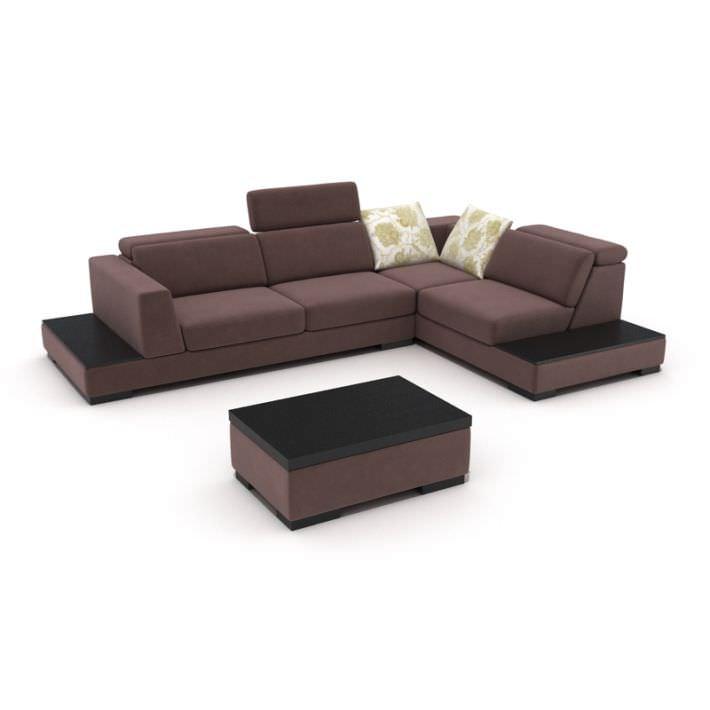 Purple Modern Sectional 3d Model