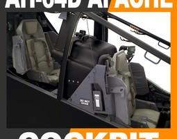 boeing ah-64d apache helicopter cockpit 3d model max obj 3ds fbx c4d lwo lw lws