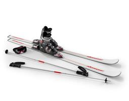 ski equiptment   white 3d