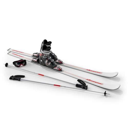 Ski Equiptment   White3D model