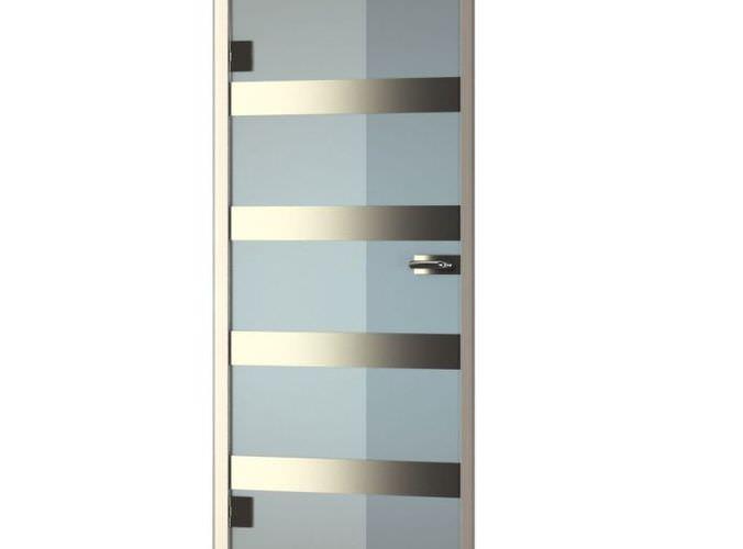 Modern glass door 3d model for Door 3d model