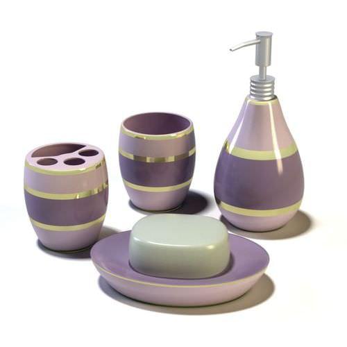 purple layered bathroom set 3d model cgtrader