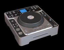retro grey dj system 3d model
