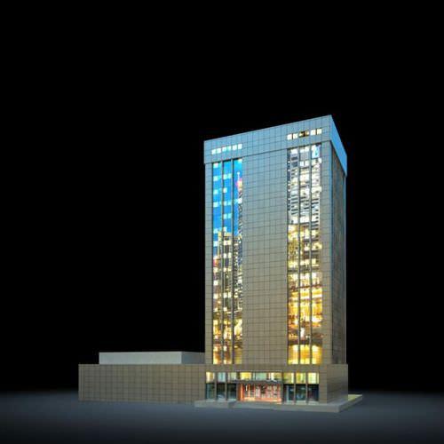 Night Skyscraper3D model
