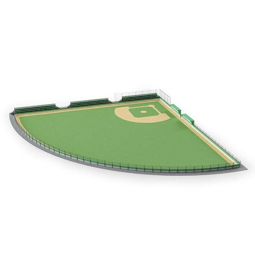 sport   green field 3d model obj mtl 1