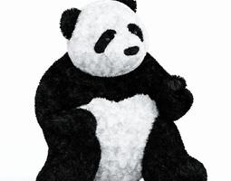 3D Soft Toy Black And White Panda