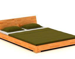 3d cedar wood platform bed with matching headboard