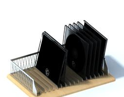 metal disk holder and organizer 3d