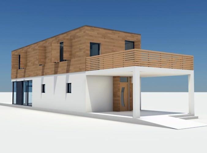 Modern house 06 3d model max obj 3ds lwo lw lws for Modern house 3d model